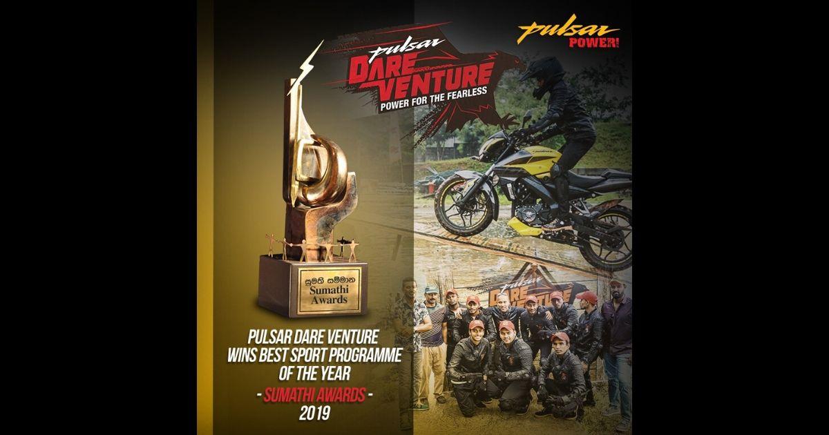 Pulsar Dareventure 'Best Sports programme of the Year' at Sumathi Tele Awards 2019
