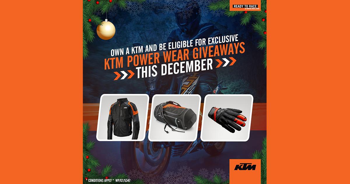 KTM POWER WEAR GIVEWAYS