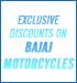 Special Discount for Bajaj Motorcycles