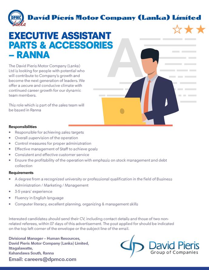 Executive Assistant Parts & Accessories – Ranna